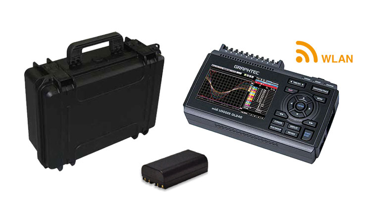 Graphtec GL240 mit Koffer, Akku, WLAN-Modul -Allice Messtechnik