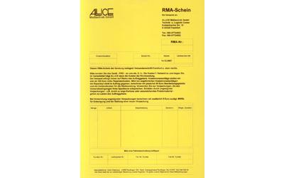 ALLICE Messtechnik RMA Formular für Gerätereparaturen