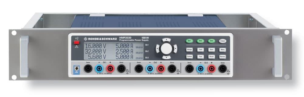 HZ42 Rackeinbausatz mit HMP2030 3-fach Netzgerät 2HE - Allice Messtechnik