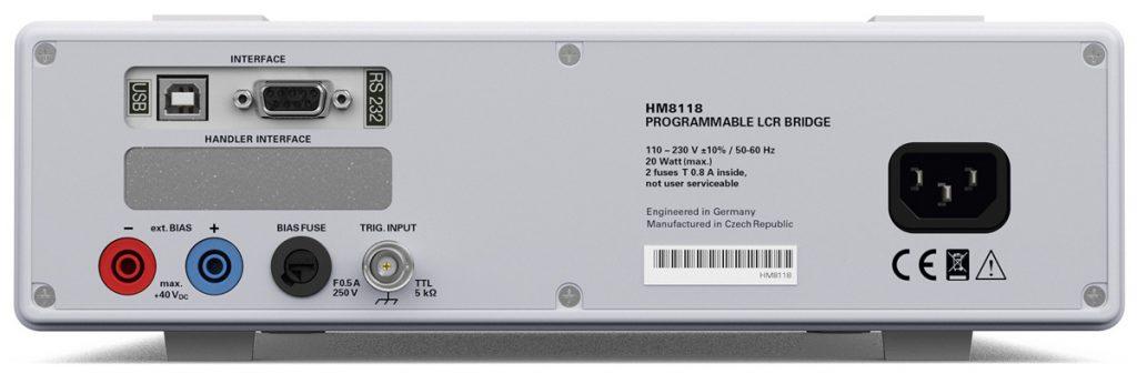 Rohde & Schwarz HM8118 LCR Meter Geräterueckseite -Allice Messtechnik