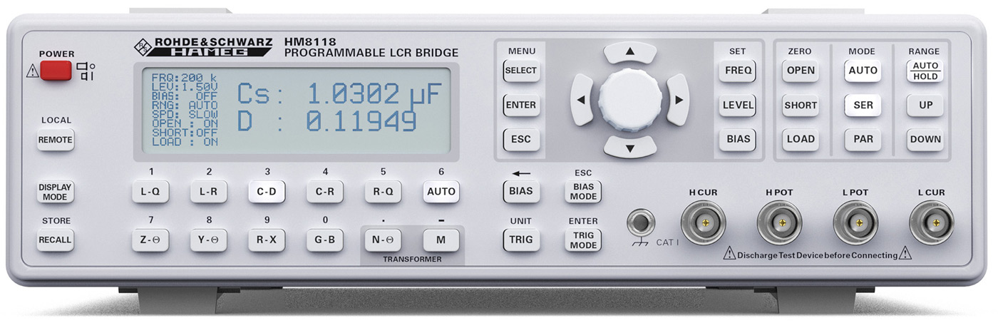 Rohde & Schwarz HM8118 LCR Meter -Allice Messtechnik