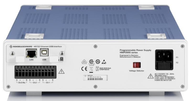 Rohde & Schwarz HMP2020 & HMP2030 rueckseitige Anschluesse - Allice Messtechnik