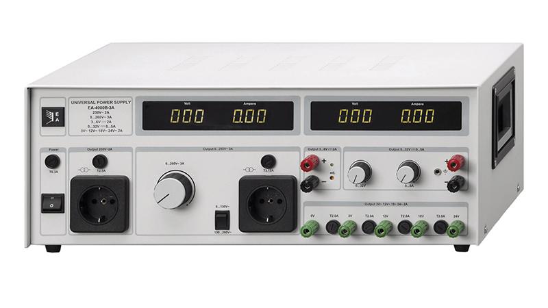 EA 4000B Universal Trenntrafo mit Zusatzausgangsspannungen AC und DC