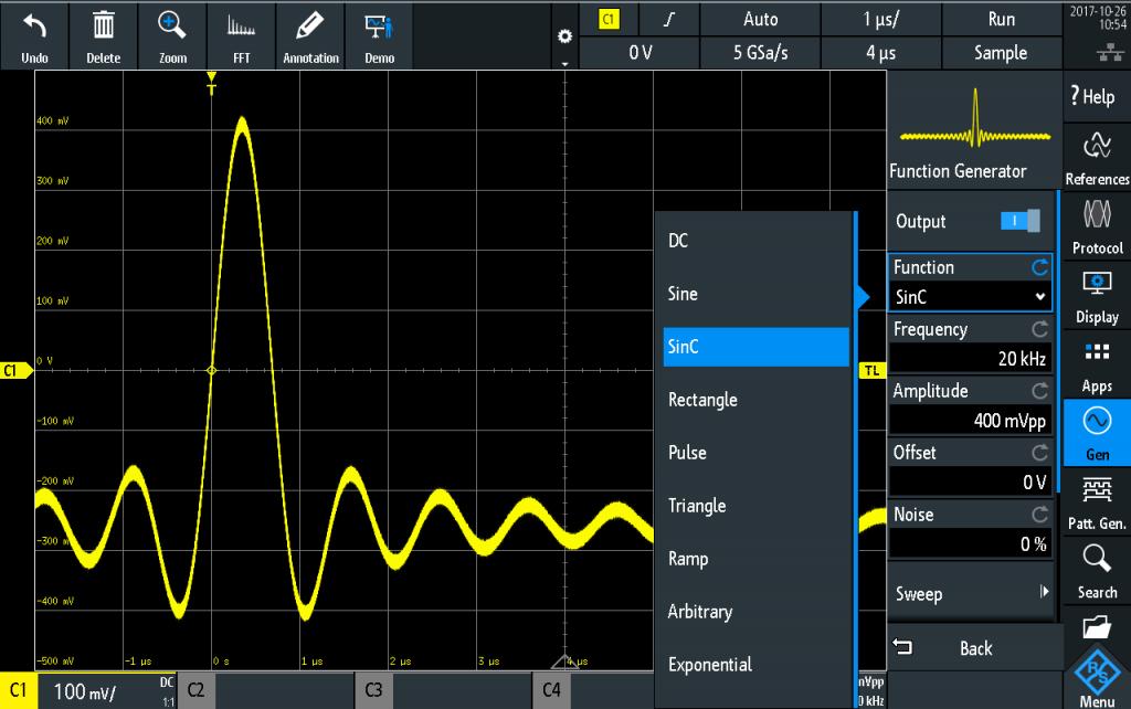 Rohde & Schwarz RTA4000 Oszilloskop Arbitrary Waveform Generator