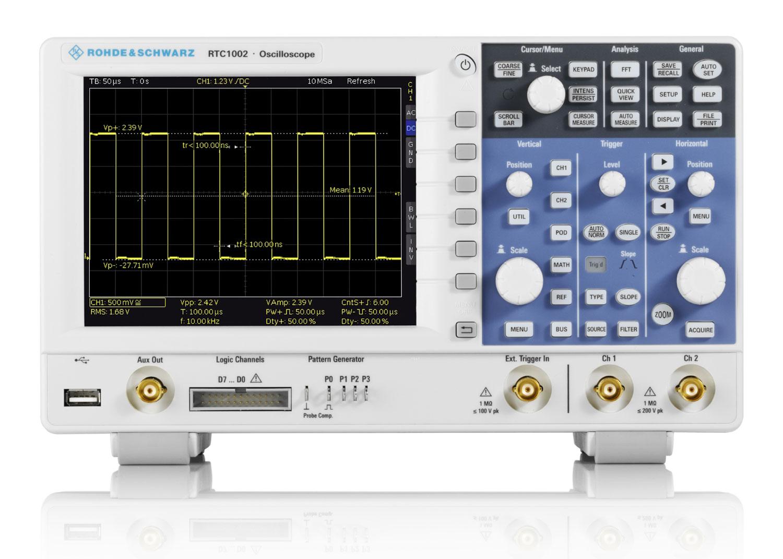 Rohde & Schwarz RTC1000 Oszilloskop Frontansicht