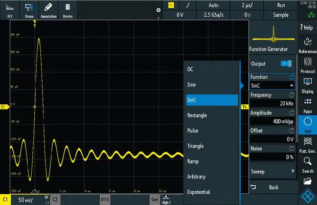 Rohde Schwarz RTM3000 Oszilloskop Waveform Generator
