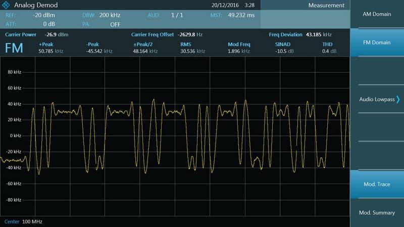 Rohde & Schwarz FPC1000 Spektrumanalysator - K7 Modulationsanalyse - Allice Messtechnik