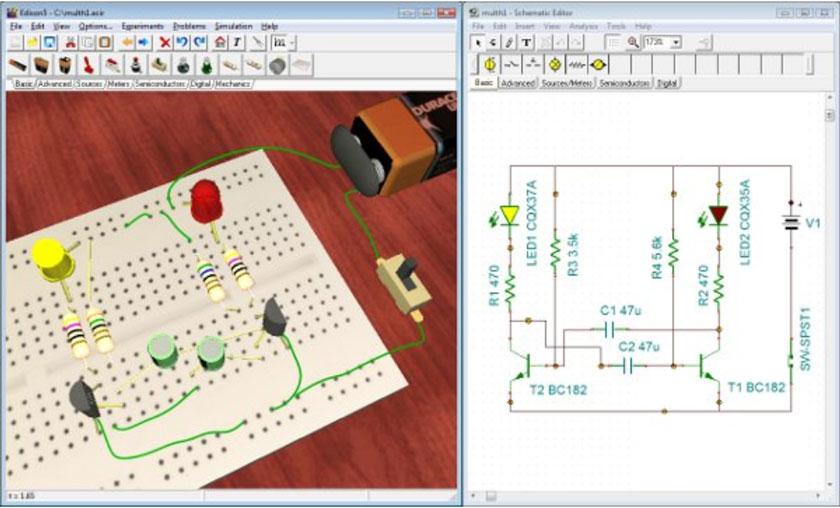 electronics circuits simulation software - 600×361