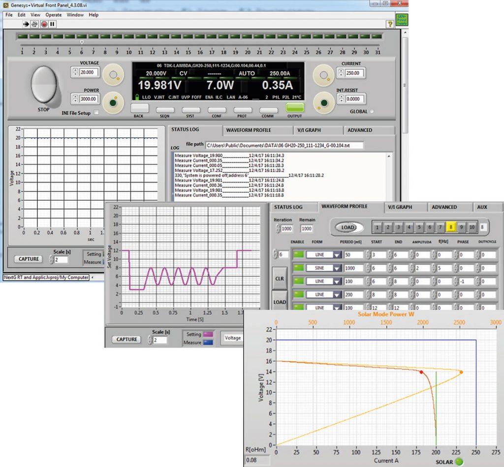 TDK Lambda Graphical Interface für Genesys+ Netzgeräte