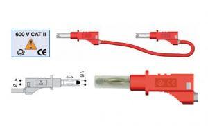 Hochwertige 4mm-Sicherheits-Messleitungen aus Silikon zum Anschluss z.B. für Netzgeräte - Allice Messtechnik