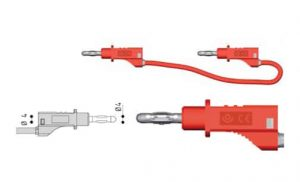 Hochwertige 4mm-Standard-Messleitungen aus Silikon zum Anschluss z.B. für Netzgeräte - Allice Messtechnik