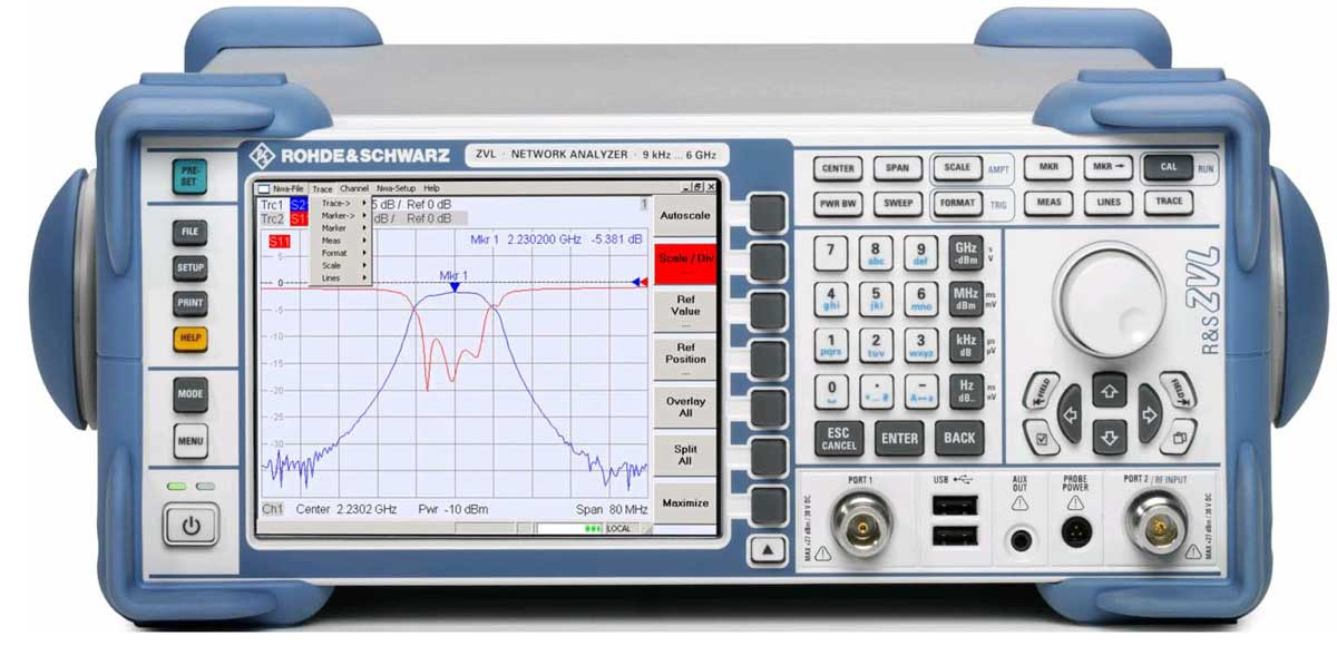 Rohde & Schwarz ZVL Vector Netzwerk Analysator - Allice Messtechnik