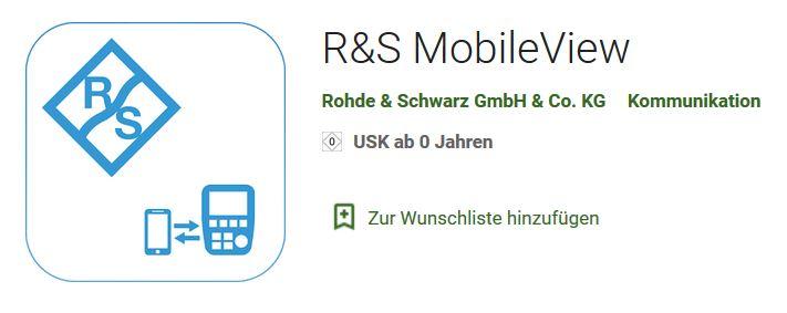MobileView für Rohde 6 Schwarz Spektrumanalysatoren - Allice Messtechnik