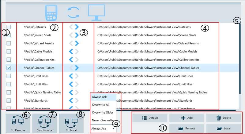 Rohde-Schwarz-InstrumentView-Remote-Dateiverwaltung - Allice Messtechnik