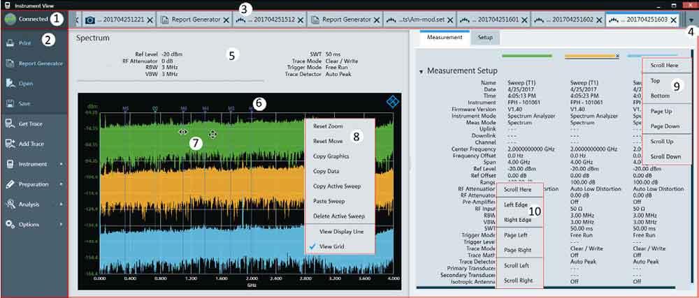 Rohde-Schwarz-InstrumentView-Screen - Allice Messtechnik