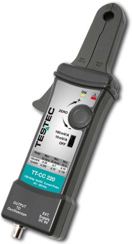 Testec CC-Serie-AC-DC Stromzange für Oszilloskope TT-CC220, TT-CC550, TT-CC770, TT-CC990 -Allice Messtechnik