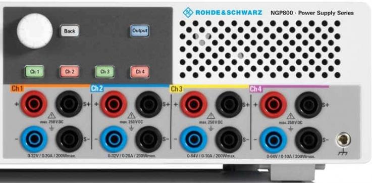 Rohde-Schwarz-NGP800-Netzgeraet-frontseitige-Anschluesse