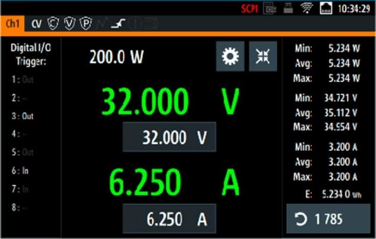 Rohde-Schwarz-NGP800-Netzgeraet-high-resolution-touch-display - Allice Messtechnik
