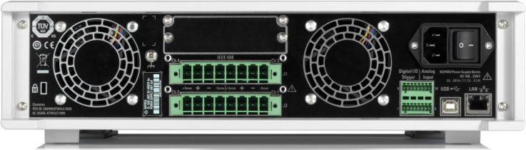 Rohde-Schwarz-NGP800-Netzgeraete-Geraeterueckseite mit rückseitigen Spannungsausgängen - Allice Messtechnik