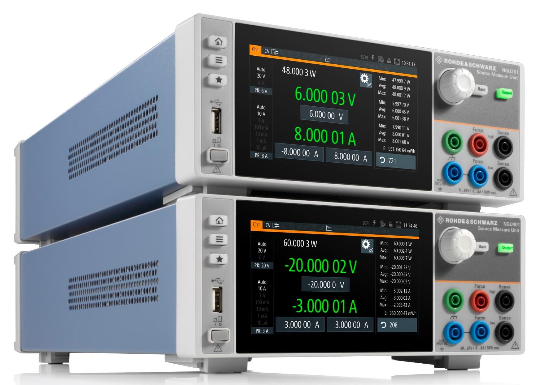 Rohde & Schwarz NGU401 und NGU201 source-measure-units - Allice Messtechnik