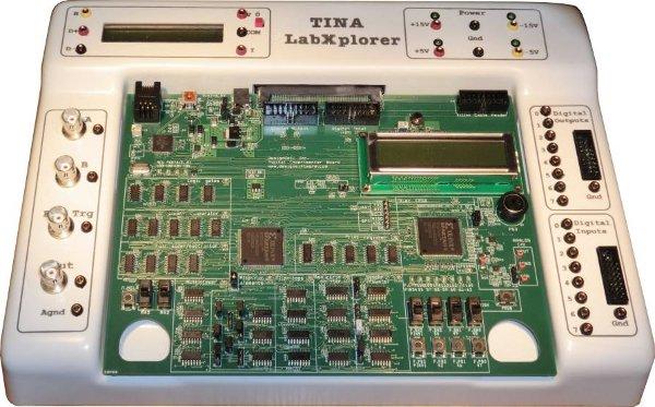 Designsoft Labxplorer Hardwareerweiterung für TINA Schaltungssimmulation - Allice Messtechnik