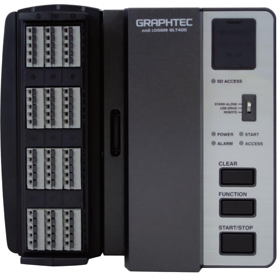 Graphtec GLT400 midi-logger mit B-564SL und B-566 - Allice Messtechnik