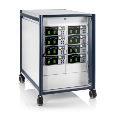 Rohde-Schwarz Rack for Testing of Battery Management Systems with NGM Power supplies - Allice Messtechnik